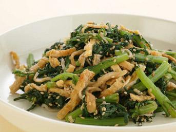 春菊のサラダ 春菊のサラダ - 心と身体を健康にする週末レシピ - ごはんとおかずのルネサンス